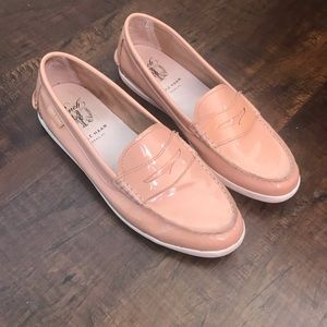 Cole Haan blush pink patent leather loafers 👞
